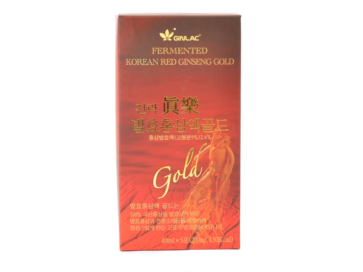Ginlac Ženšen Power drink gold 200 ml, 5 ks